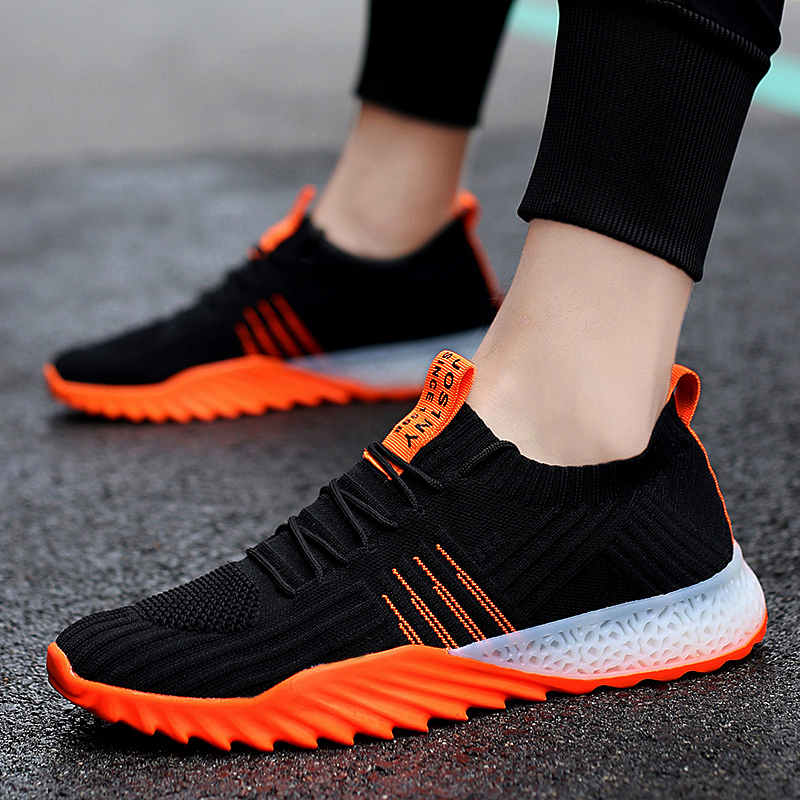 Slip-on hombres deportes zapatos de malla transpirable zapatillas de hombre de gran tamaño zapatillas de correr para hombres ultraligero bajo superior Mens zapatos Unisex zapatos I3
