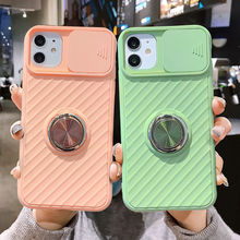 Slide Camera Protection Case For iPhone 12 SE 2020 11 11Pro Max XR XS Max X 8 7 6 6S Plus 11Pro Shockproof Ring Holder Soft Case