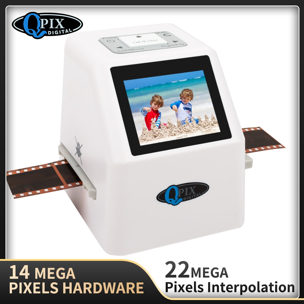 High Resolution 22 MP 35mm Negative Film Scanner 110 135 126KPK Super 8 Slide Film Photo Scanner Digital Film Converter 2.4