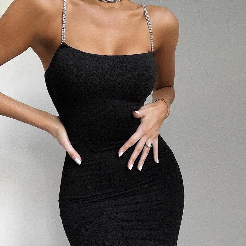 Vestido Sexy blanco y negro para mujer, ropa de fiesta para Club, Boycon Sparkle, sin mangas, ajustado, sin espalda, verano 2020, Mini vestido elegante PR1356G