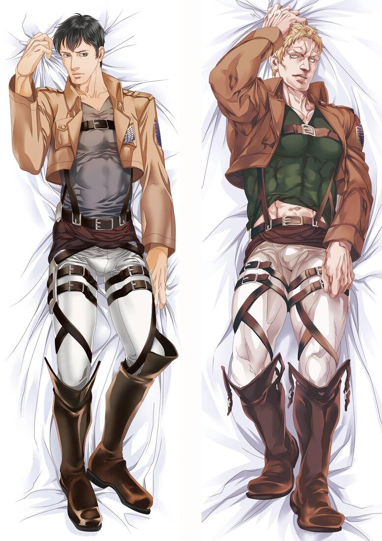 Funda de almohada para niño con estilo de ataque a los Titanes, funda de almohada de 2 vías de Anime con actualización de 2020 en Enero