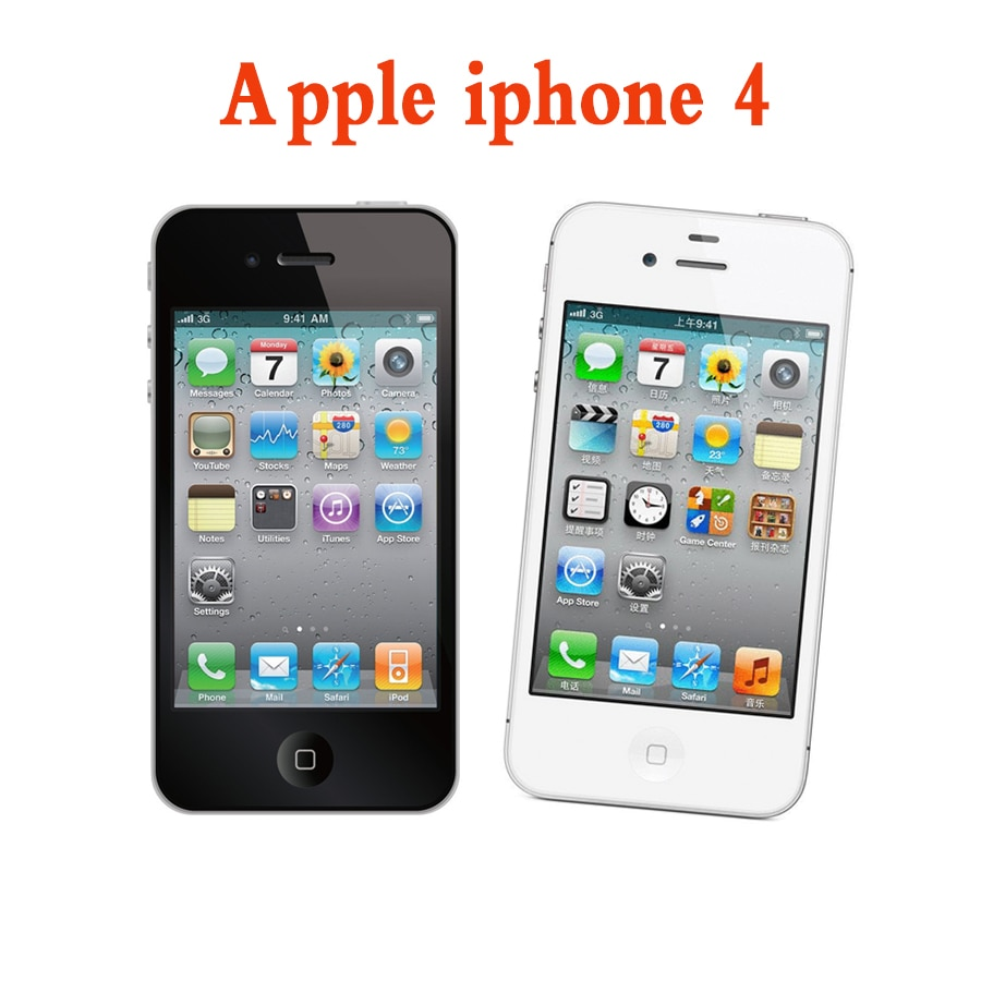 All tested Used Apple iPhone 4 Smartphone Dual Core IPS Mobile Phone 8/16/32gb GPS Wifi iPhone 4 Unlocked icloud Cell Phones