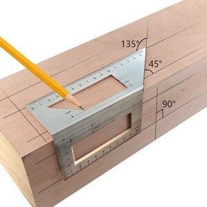 40 # алюминиевый инструмент для деревообработки, прочная T-линейка, многофункциональная угловая линейка на 45/90 градусов, детали для домашней установки