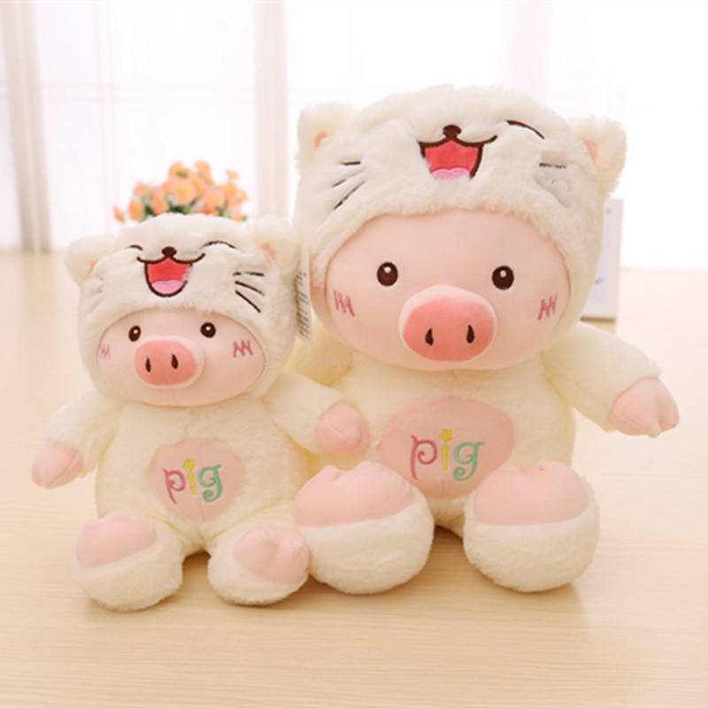 Kawaii Pig Stuffed Plush Doll Cosplay Cat&Bear&Dog Toy Baby Soft Animal Pillow Children Girl Birthday Christmas Gift AP  - buy with discount