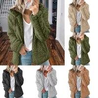 2021 new fashion warm long sleeve coats solid color sweatshirt jackets zip outwear elegance contracted casual overcoat hoodie