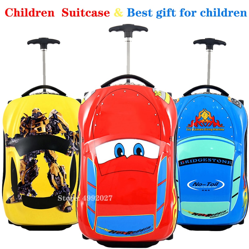 3D Kids Suitcase Car Travel Luggage Children Trolley for boys wheeled suitcase kids Rolling luggage