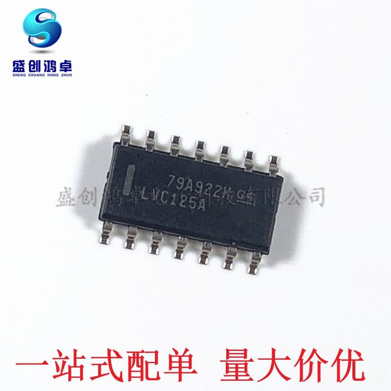 100% novo & original 74LVC125ADR 74LVC125A 74LVC125 SOP14 Em Estoque (5 pçs/lote)