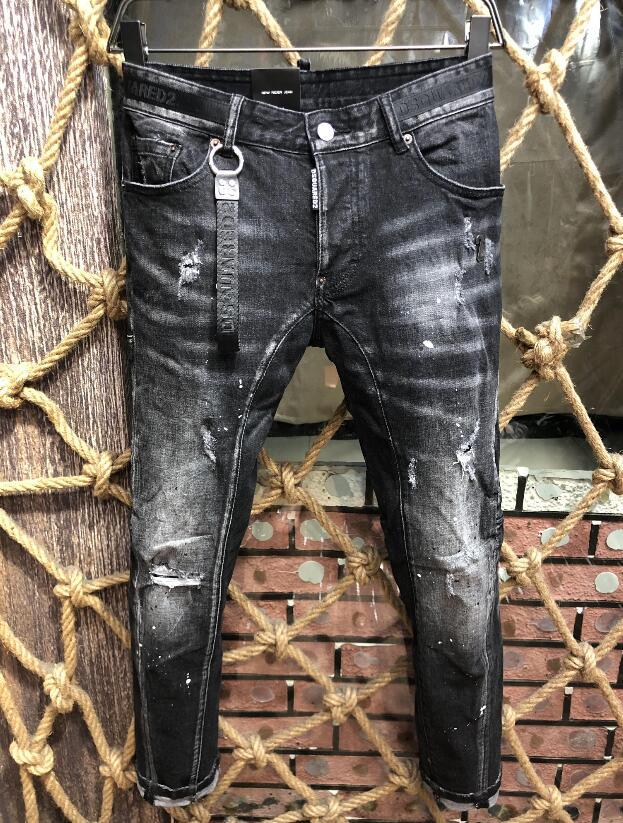 Брюки-Карандаш мужские джинсы, повседневные брюки в байкерском стиле, уличная одежда, 2021 джинсовая одежда, A216