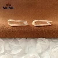 silver korean new trendy u shape square hoop earrings temperament simple charm elegant jewelry accessories