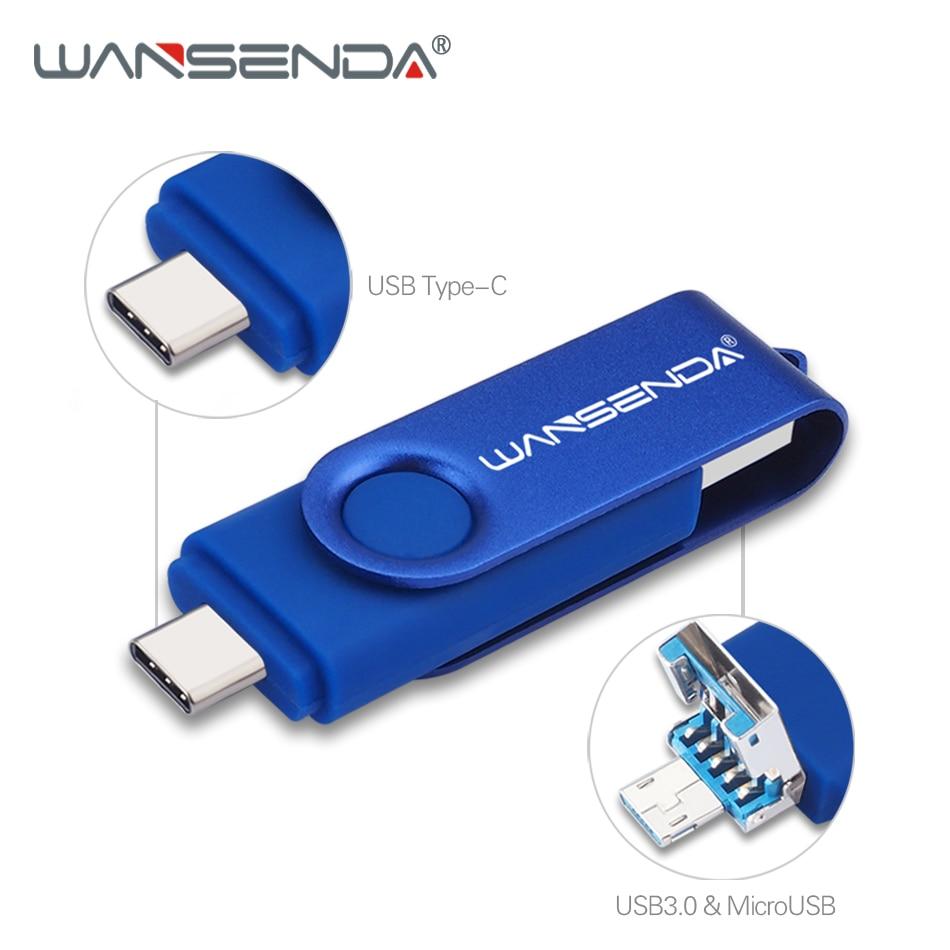 WANSENDA Type C clé USB 512 go USB 3.0 & Type C & Micro clé USB 256 go 128 go 64 go 32 go clé USB