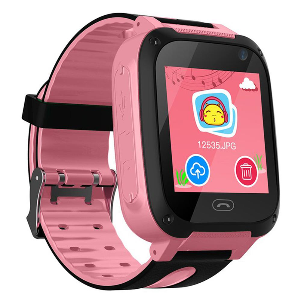 Children's Smart Watch SOS One-Button Alarm Waterproof Camera Phone Lighting GPS Locator Touch Color Screen Kids Smart Braclet