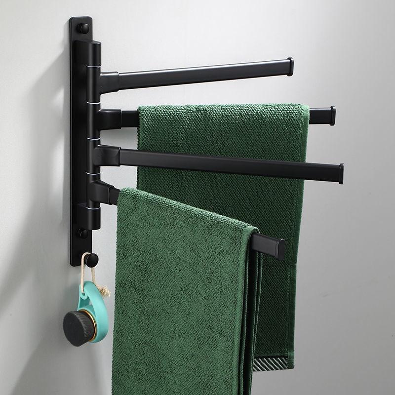 الألومنيوم الأسود تدوير منشفة بار الحمام منشفة ملفوفة قوس السنانير حامل اكسسوارات المطبخ الحمام