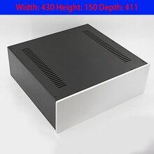 KYYSLB 430*150*408MM 4315C Alle Aluminium Verstärker Chassis Verkauf DIY Box Gehäuse Verstärker Fall mit Kühlung löcher