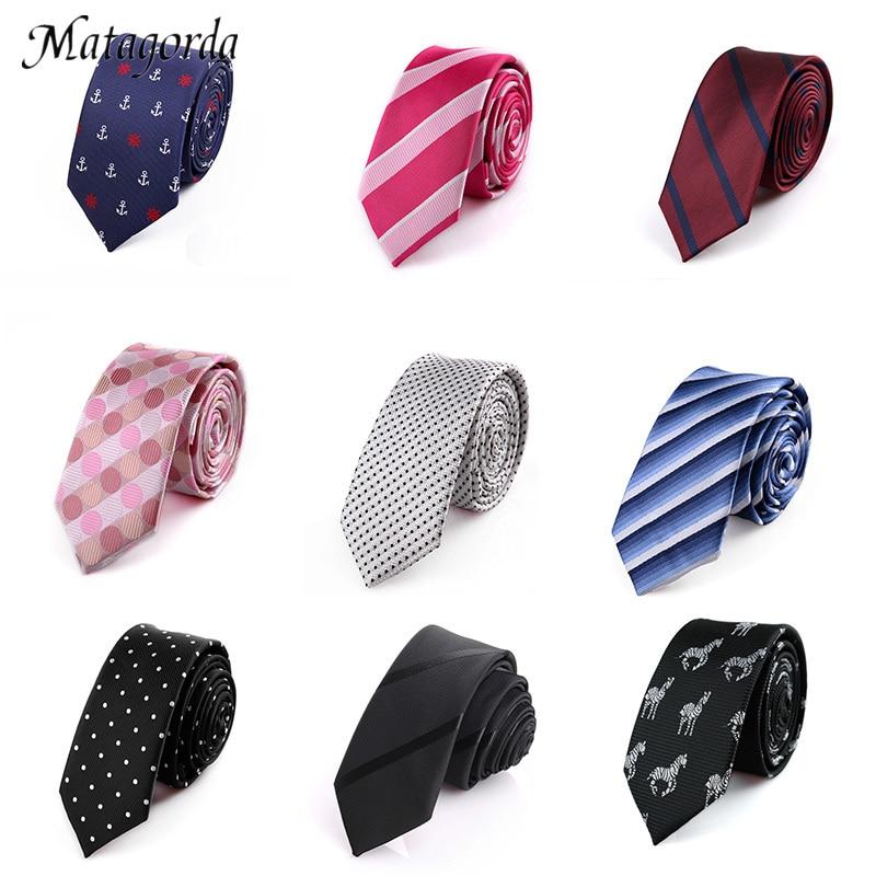 Matagorda Mans 5-6cm Tie Skinny Necktie Striped Plaid Wedding Dress Slim Tie Gravata Jacquard Formal Tie Gravata Graduation Gift