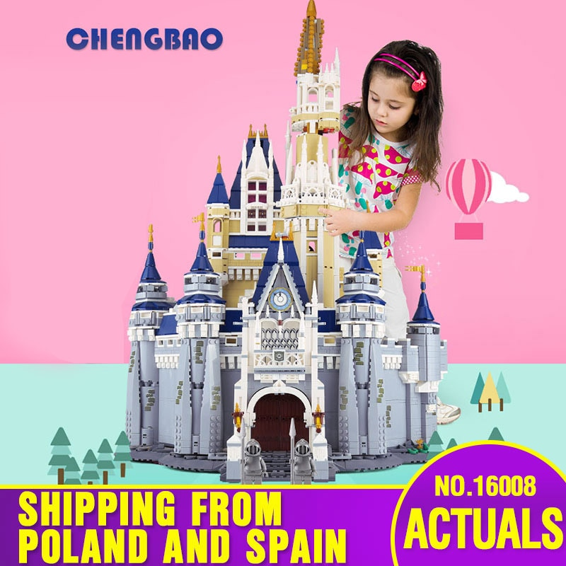 DHL 16008 Золушка Принцесса замок модель образовательный строительный блок детские игрушки подарок совместим с Lepining 71040 детские игрушки