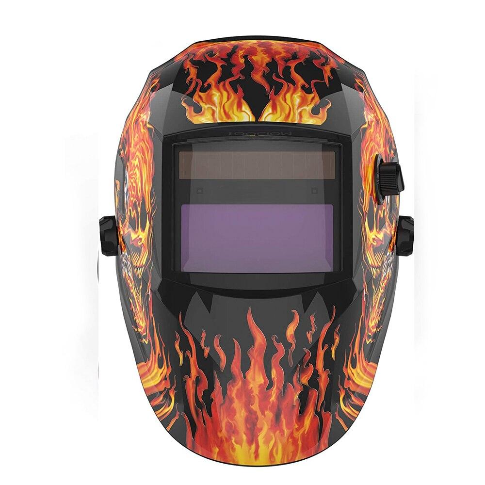 Сварочная маска, автоматический шлем для сварки TIG MIG на солнечной батарее, с автоматическим затемнением