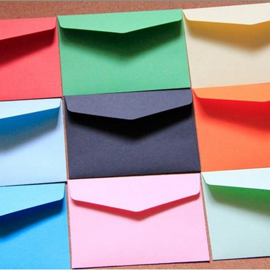 5 pzas/lote color caramelo mini sobres de manualidades multifunción de sobre de papel para la carta tarjetas postales de papel Material escolar