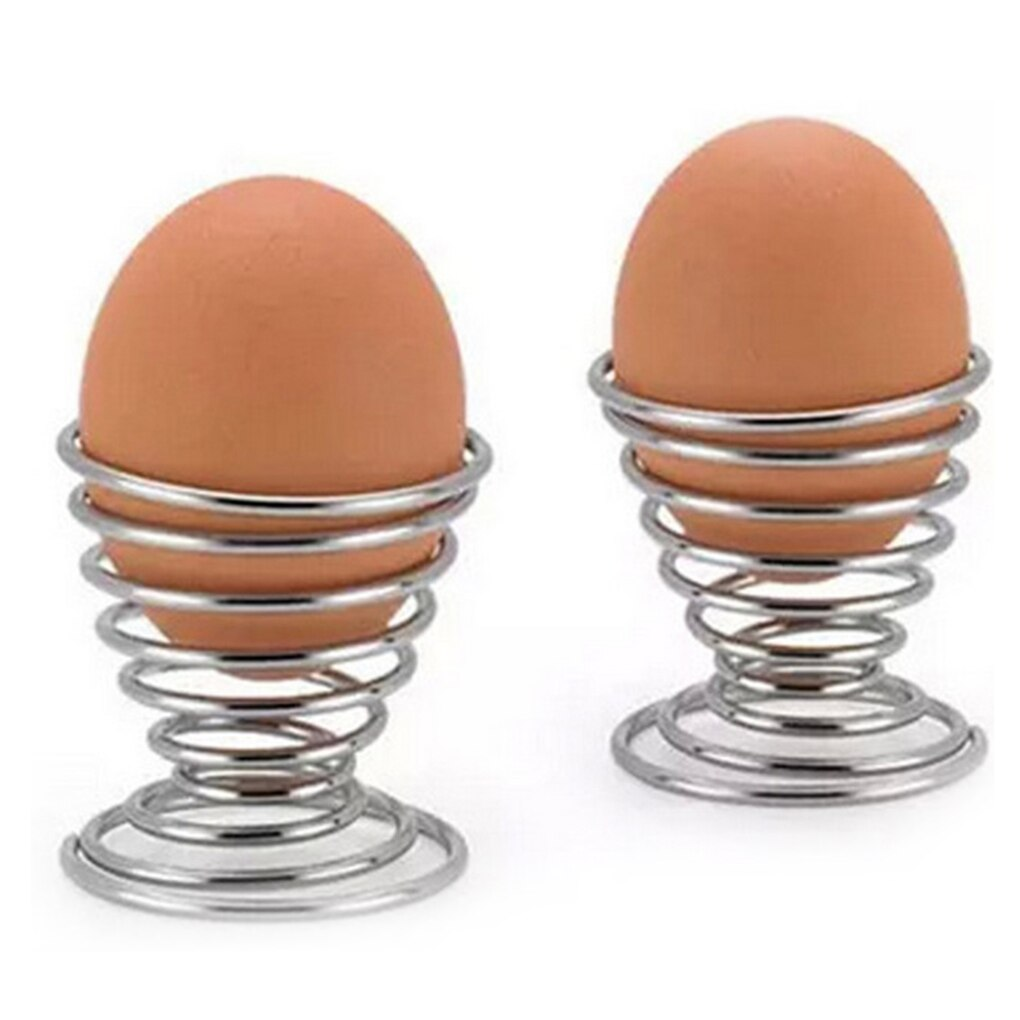1pcs/2pcs/3pcs Boiled Eggs Holder Hot Products Stainelss Steel Spring Wire Tray Egg Cup Cooking Tool