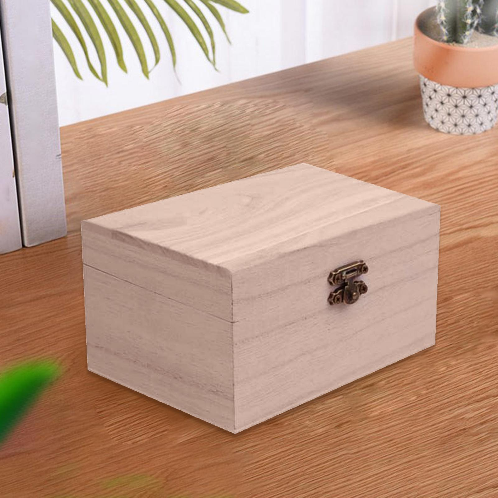 Portable Multifunction Case with Lid Wooden Jewellery Storage Container for Home Supply