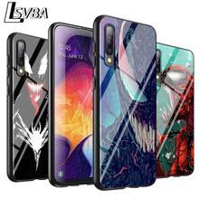 Couverture noire Marvel Venom Super héros pour Samsung Galaxy A90 A80 A70S A60 A50S A40 A20E A20 A10S coque de téléphone Super brillante