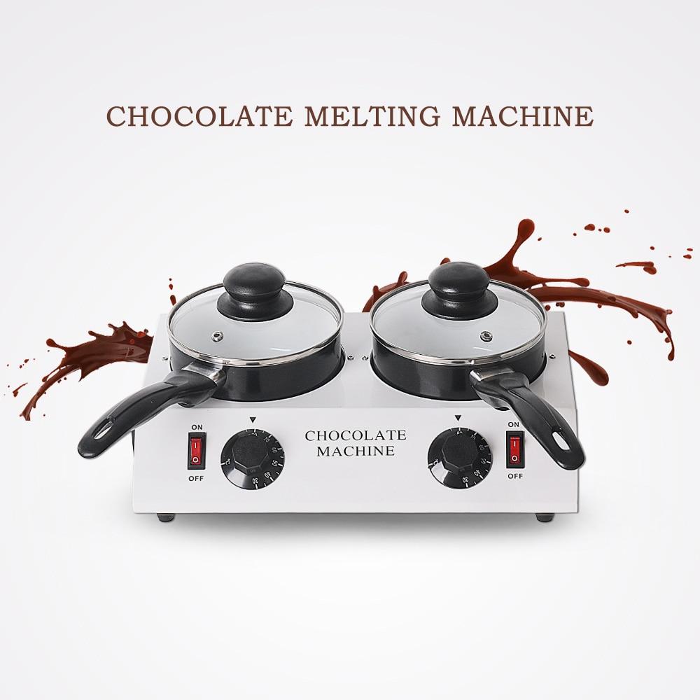 Машина для таяния шоколада, двойные кастрюли, две антипригарные котлы с подогревом, электрические кастрюли для шоколада, сыра, сахара, домаш...