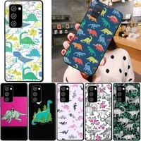 cute dinosaur patterned phone case for samsung note 8 9 10 20 case for note10pro 10lite 20ultra m20 m31 funda case