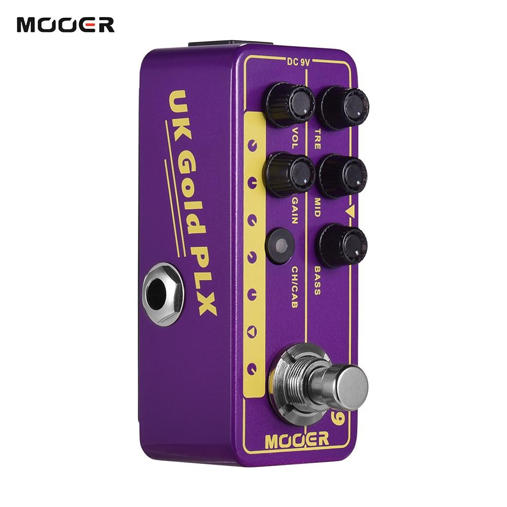 Mooer Electric Guitar Effect Pedal 019 UK Gold PLX Digital Micro Preamp 70's Classic Rock Guitar Effect Pedal Cabinet Simulation enlarge