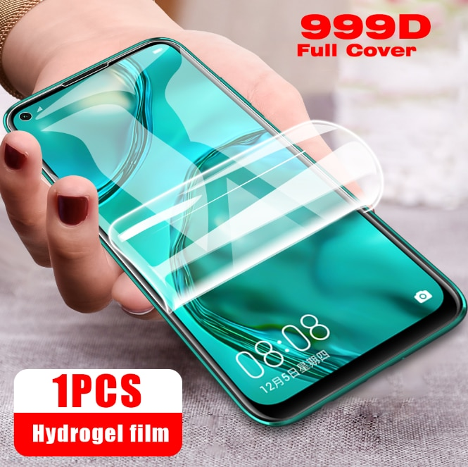 Protective Case For Huawei P30 P20 P40 Lite E P30Pro Screen Protector Hydrogel Film For Huawei Mate