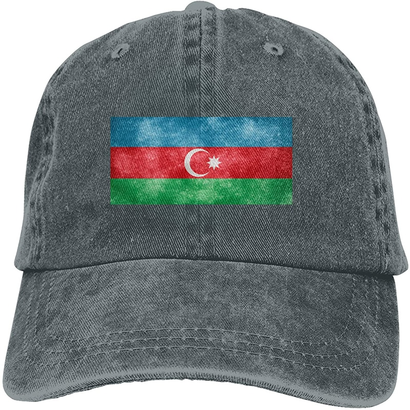 Модная мягкая шляпа с флагом Азербайджана, подарок, шапка для отца, Кепка-тракер, ковбойская шляпа
