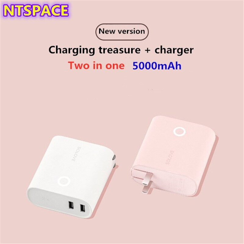 Charging Treasure + Charger 5000mAh Backup Battery Charger For iPhone/Samsung Portable Power Bank For Huawei/Xiaomi Battery Powe