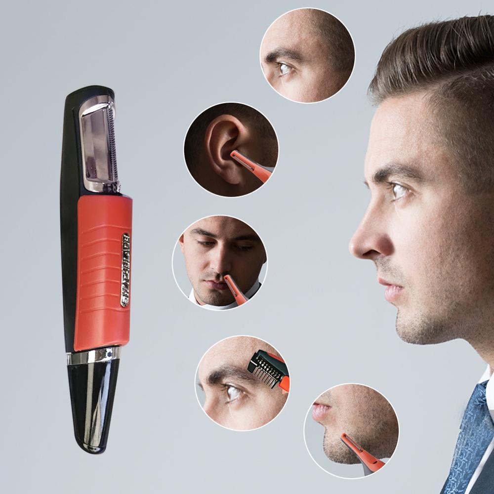 luz led multifuncional nariz aparador de pelos homens sobrancelha orelha depilacao