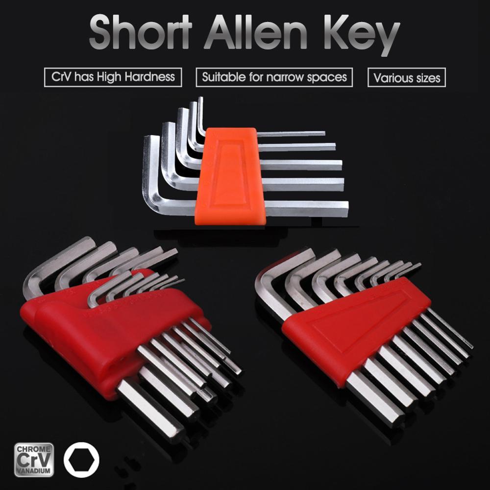 11Pcs 8Pcs 5Pcs Hex Key Hexagon Wrench Key-Wrench Metric British Short Ball Head L-Type 1/16- 1/4 Inch & 1.5mm-6mm