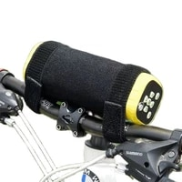 bicycle bottle holder mountain bike accessories bluetooth bracke velcro strap diving material remove the bottle cage and f