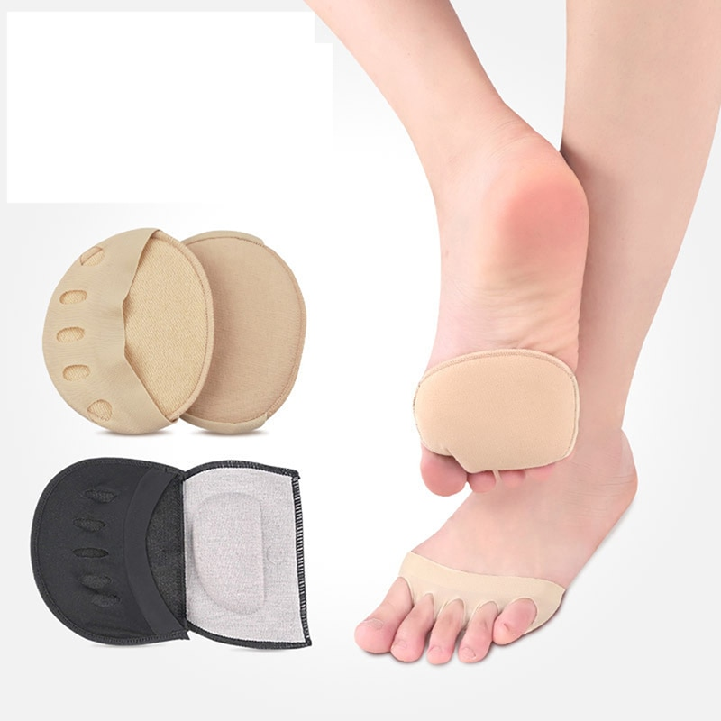 1 Pair Metatarsal Sleeve Pads Half Toe Bunion Sole Forefoot Gel Pads Cushion Half Sock Supports Prevent Calluses Blisters abdb silica gel toe separator bunion splint for hammer toe with forefoot cushion pad half toe sleeve metatarsal pads