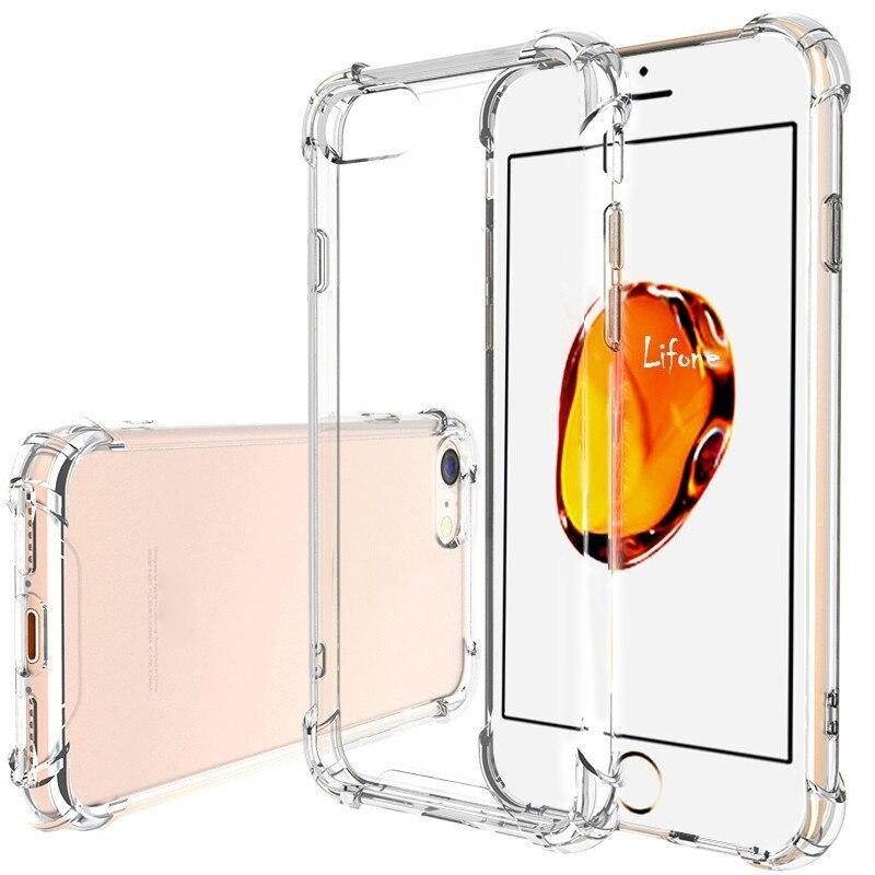 Transparent Weiche Tpu Fällen Fall Für Iphone 7 Silikon Fall Iphone 8 Plus Fall Iphone 7 Plus Volle Abdeckung Kristall klar Für Apple