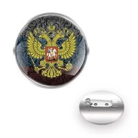 russian double headed eagle %d0%b3%d0%b5%d1%80%d0%b1 %d1%80%d0%be%d1%81%d1%81%d0%b8%d0%b8 brooches decoration collar pin glass dome women men accessories jewelry gift