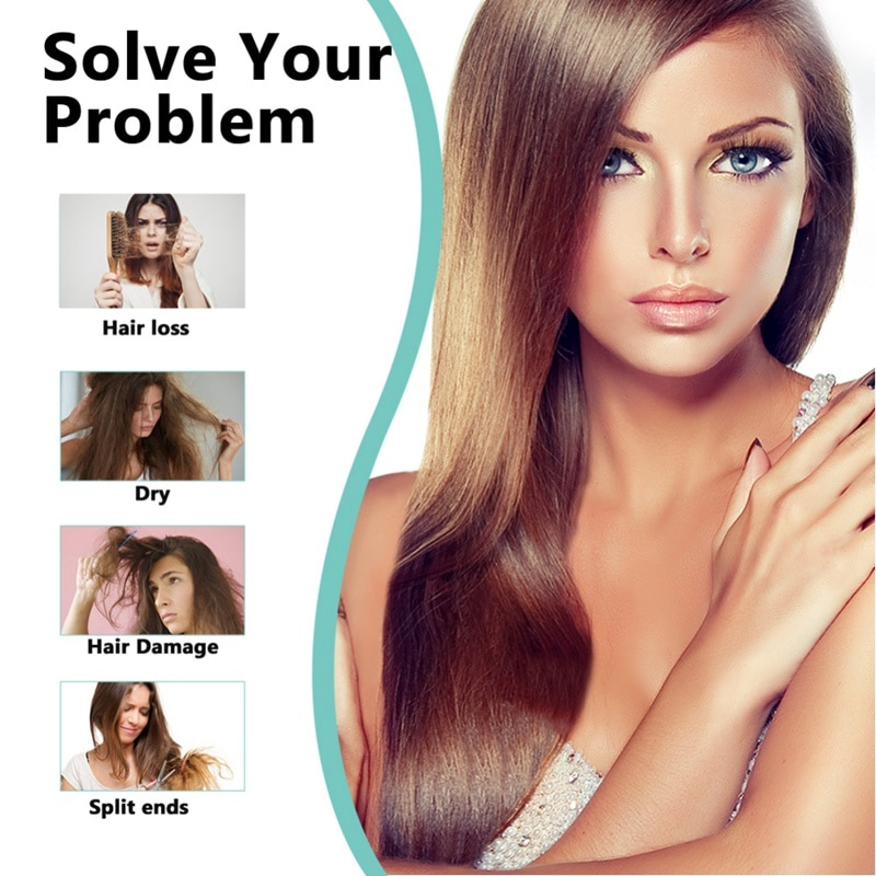 Recomiendo la máscara de cabello vapor lavado gratis nutrición profunda pelo aceites esenciales cuidado de la reparación cabello cola de la sequedad horquilla pelo cabello