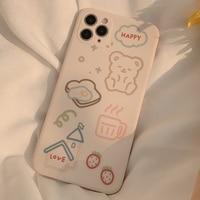 Новинка 2020, чехол для телефона с милым медведем и хлебом для iphone 11 xs max 7 12 mini 8 plus, силиконовый чехол x xr pro max, мультяшный семейный чехол, оболочк...
