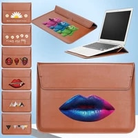 pu leather for 11 13 14 15 inch stand portable sleeve bag for macbook air pro 13 15 case huawei dell hp laptop bag