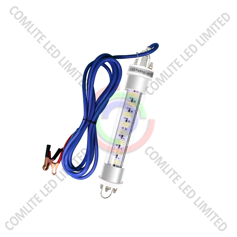 DC12V/24V 300W Attracting squid bars fishing LED underwater lights Dimmable with 5-10M cable enlarge