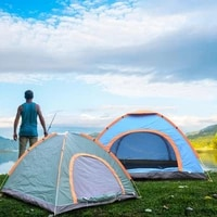 2 person automatic pop up camping tent easy open tents ultralight instant shade portable free construction outdoor family tent