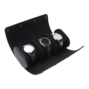 3 Slot Leather Watch Box Display Case Organizer Glass Jewelry Storage with Exquisite Craftsmanship