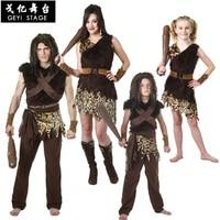 halloween kids leopard savage caveman croods flintstones primitive sexy women indian clothing carnival costumes for men fancy