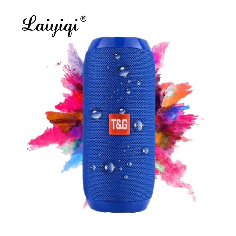 Laiyiqi-cinturón portátil de tela colorida woofer impermeable, Radio FM, parlante portátil para...