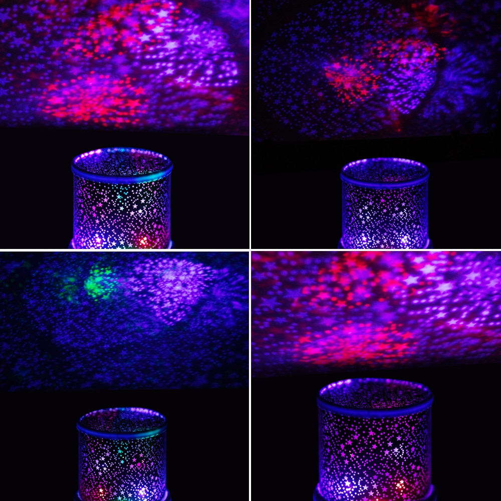 LED Star Projector Lamp RGB Night Light Children's Birthday Gift Couple Romantic Atmosphere Lights Novelty Colorful Lights enlarge