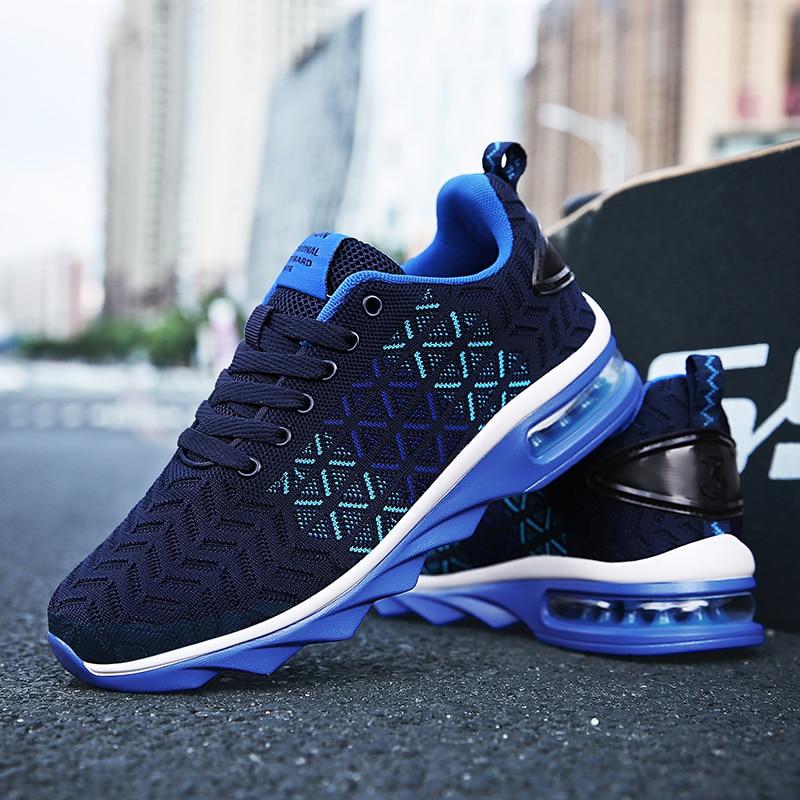 Мужская спортивная обувь для бега 2021, сетчатая дышащая спортивная обувь, легкая спортивная обувь для тренажерного зала, мужские кроссовки д...