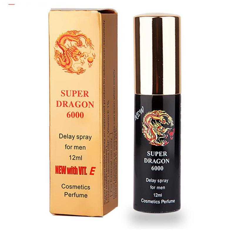 1Pc 12ml Super Dragon 6000 Male Delay Spray Adult Products Extend Time Lubricant Health Massage Oil