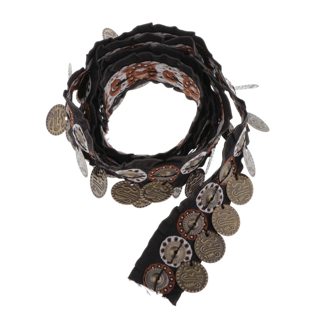 1 yarda cinta Jacquard de tono marrón borde con flecos ropa DIY artesanía 25mm