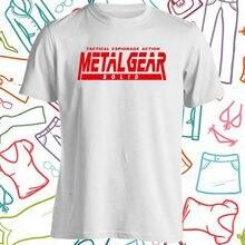Engrenage en métal solide Logo jeu daction hommes blanc t-shirt taille S à 3Xl